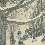 Sledding on Flexible Flyers at the Stone School
