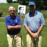 Doug Cpers & Averill Fisk with Fernando Sanchez' photo at golf course