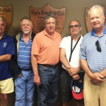 Reunion '17 golfers Doug Capers, Bob Docherty, Chris Capers, Doug Burg and Averill Harriman Fisk